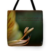 Love With Action Tote Bag