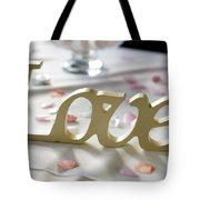 Love Word At A Wedding Tote Bag
