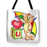 Love You Teddy Bear Tote Bag