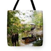 Lovejoy Covered Bridge And Moose Tote Bag