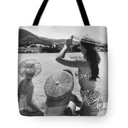 Lovely Ladies In Cha Cha Hats Tote Bag