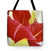 Lovely Lily Floral Print Tote Bag