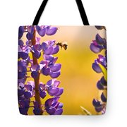 Lovely Lupins And Busy Bee Tote Bag