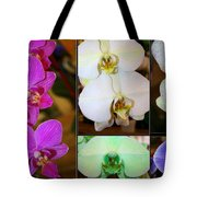 Lovely Orchids - A Collage Tote Bag