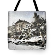 Lovely Snow On The Museum Tote Bag