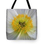 Lovely White Flower Square Tote Bag