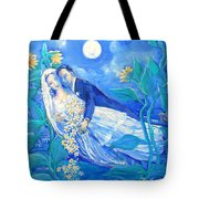 Lovers And Sunflowers  After Marc Chagall  Tote Bag