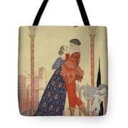 Lovers On A Balcony  Tote Bag