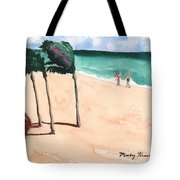 Lovers On The Beach Tote Bag