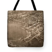 Aerial Of Lovers Point And Pacific Grove California July 10 1906 Tote Bag