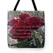 Lover's Roses Tote Bag