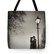 Lovers Say Goodbye Under A Streetlamp Tote Bag
