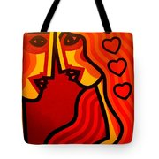 Lovers Vi Tote Bag