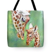Loving Mother Giraffe2 Tote Bag