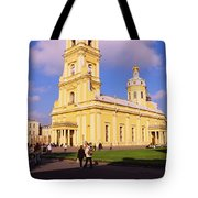 Low Angle View Of A Cathedral, Peter Tote Bag