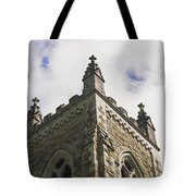 Low Angle View Of A Church, Trinity Tote Bag
