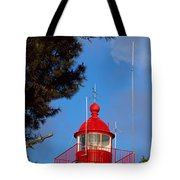 Low Angle View Of A Lighthouse, Morgat Tote Bag