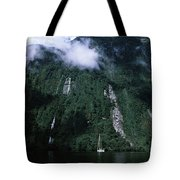 Low Angle View Of A Mountain, Milford Tote Bag