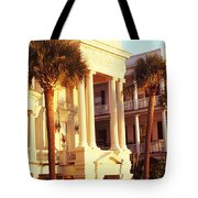 Low Angle View Of Historic Houses Tote Bag