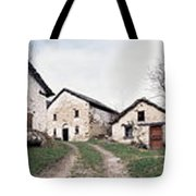 Low Angle View Of Houses In A Village Tote Bag