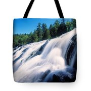 Low Angle View Of The Bond Falls Tote Bag