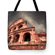 Low Angle View Of The Roman Colosseum Tote Bag by Stefano Senise