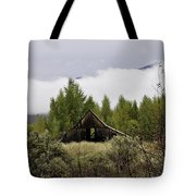 Low Clouds On The Mountain Tote Bag
