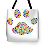 Low Poly Cougar Paw Tote Bag