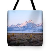 Low Sunrise Clouds Tote Bag