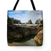 Low Tide At The Arches Tote Bag