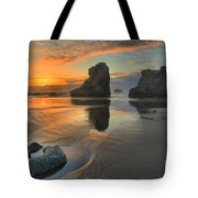 Low Tide Giants Tote Bag by Adam Jewell