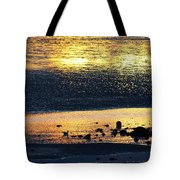 Low Tide Gold Tote Bag