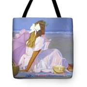 Low Tide Lady Tote Bag