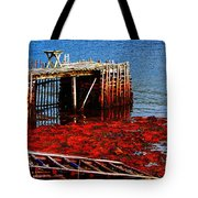 Low Tide - Red Seaweed - Fishing - Moratorium Tote Bag