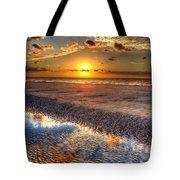 Low Tide Sunrise On Jekyll Island Tote Bag
