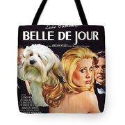 Lowchen Art - Belle De Jour Movie Poster Tote Bag