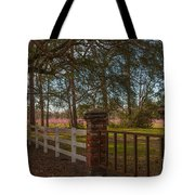 Lowcountry Gates To Boone Hall Plantation Tote Bag