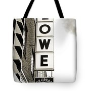Lowe Drug Store Sign Bw Tote Bag by Andee Design
