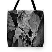 Lower Antelope Glow Black And White Tote Bag