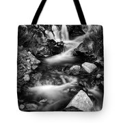 Lower Bridal Veil Falls 3 Bw Tote Bag