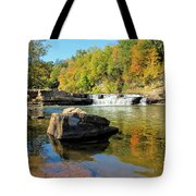 Lower Falls And Stream Tote Bag