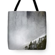 Lower Falls Of The Yellowstone Close-up In Spring Tote Bag