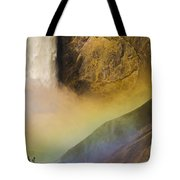 Lower Falls Rainbow - Yellowstone Tote Bag