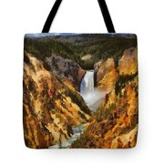 Lower Falls Yellowstone Tote Bag