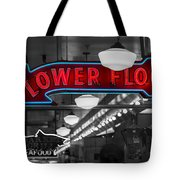 Lower Floor Selective Black And White Tote Bag