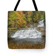 Lower Kent Falls Square Tote Bag