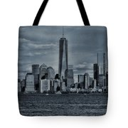 Lower Manhattan And The Freedom Tower Tote Bag