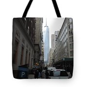 Lower Manhattan And The New World Trade Center Tote Bag