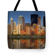 Lower Manhattan Skyline Tote Bag