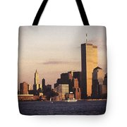 Lower Manhattan World Trade Center Tote Bag by Carol Whaley Addassi